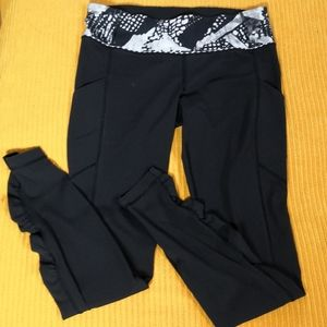 RARE Lululemon ruched Speed Tights w/ pockets